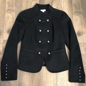 AnnTaylor LOFT wool black military jacket coat